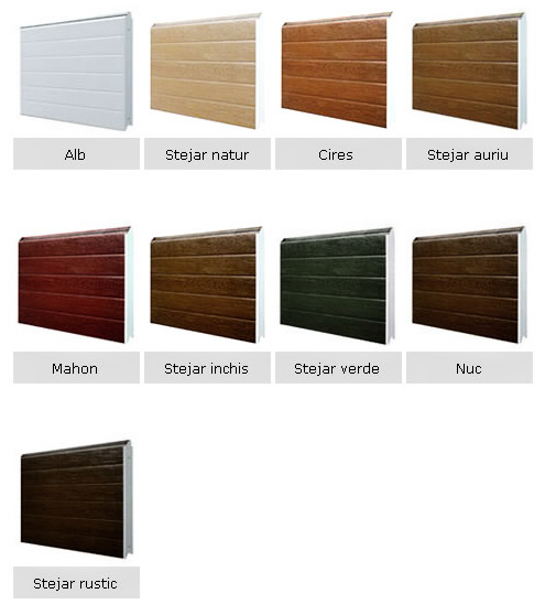 Paleta culori panouri usi garaj