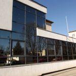 Pereti cortina din aluminiu gri - amenajare Spitalul de pediatrie Botosani