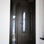 Usa pvc exterioara cu termopan_nuanta mooreiche_Cesarom Botosani